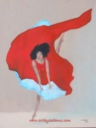 Dancer in Red (size: 11 x 14)