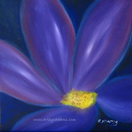 Purple Blue and Yellow (size: 12 x 12)