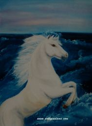 White In The Water (size: 24x18)
