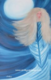 Winter Warrior Woman (size: 20x30)